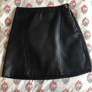 Zara - faux leather mini skirt (dark navy)